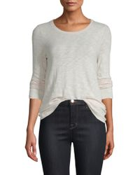 ATM - Long Sleeve Destroyed Wash Top - Lyst