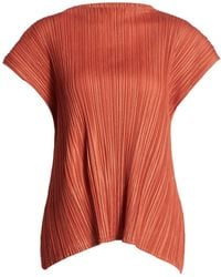 Pleats Please Issey Miyake Mellow Pleats Top - Red