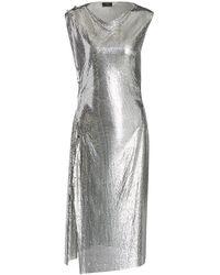 Paco Rabanne Draped Chainmail Dress - Metallic