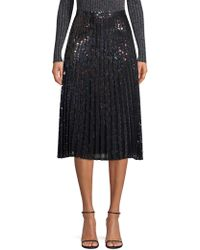Parker - Citrine Iridescent Sequin Pleated Skirt - Lyst