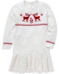 Ralph Lauren - Little Girl's Reindeer Jumper Dress - Lyst