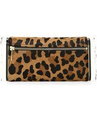 Edie Parker - Leopard Print Calf Hair Pencil Case - Lyst