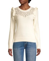 Rebecca Taylor - Emilie Embroidery Wool Blend Sweater - Lyst