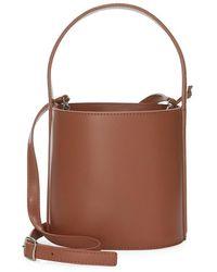 STAUD Bissett Leather Bucket Bag - Brown