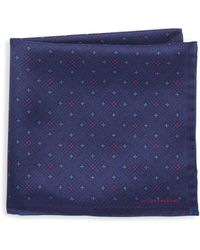Hook + Albert - Diamond Silk Pocket Square - Lyst