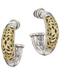 Konstantino Sterling Silver & 18k Yellow Gold Hoop Post Earrings - Metallic