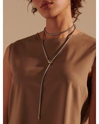 John Hardy - Classic Chain Asli-link Sterling Silver & 18k Yellow Gold Transformable Extra-small Lariat Necklace - Lyst