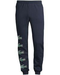 Lacoste Multi Croc Logo Sweatpants - Blue