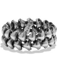 David Yurman - Armory Sterling Silver Ring - Lyst
