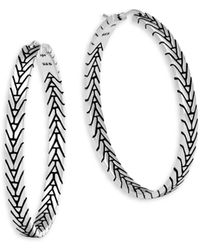 John Hardy - Modern Chain Silver Medium Hoop Earrings/1.5 - Lyst