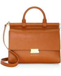 Want Les Essentiels De La Vie - Maxi Valencia Leather Satchel Bag - Lyst