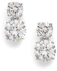 Adriana Orsini Double Stud Drop Earrings - Metallic