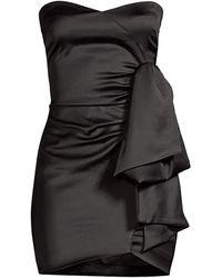 Likely Kika Sweetheart Satin Mini Dress - Black