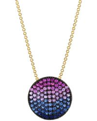 Phillips House Vibrant Affair Large 14k Yellow Gold & Multi-stone Infinity Pendant Necklace - Multicolor