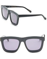 7f80e0acab6 Karen Walker - Deep Worship 55mm Wayfarer Sunglasses - Lyst