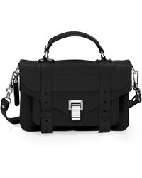 Proenza Schouler Tiny Ps1 Leather Satchel - Black
