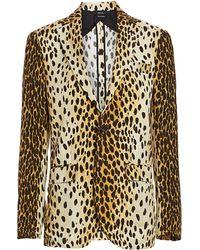 R13 - Leopard Print Boyfriend Blazer - Lyst