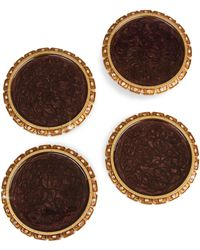 Jay Strongwater - Barware Set Of Four Jewel Edge Coasters - Lyst