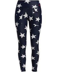 R13 Star Patch Pocket Leggings - Blue