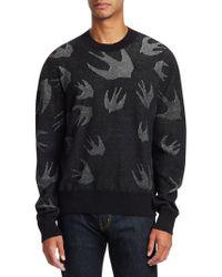 McQ - Pointelle Swallow Crewneck Sweater - Lyst