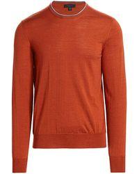 Saks Fifth Avenue Collection Charlotte Crew Sweater - Orange
