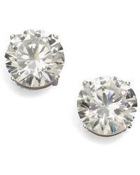 Adriana Orsini - Brilliant Cut Crystal Sterling Silver Stud Earrings - Lyst