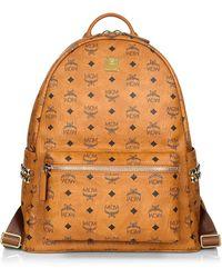 MCM Medium Stark Visetos Backpack - Brown