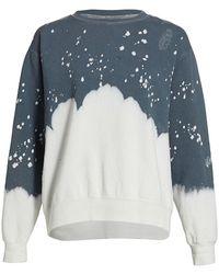 LA DETRESSE Acid Wash Charcoal Sweatshirt - Gray
