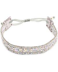 Chan Luu - Seed Bead & Leather Bracelet - Lyst