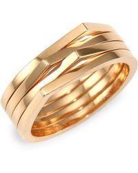 Repossi Antifer Four Row 18k Rose Gold Ring - Metallic