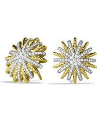 David Yurman - Starburst Small Earrings With Diamonds In Gold - Lyst