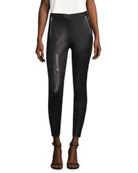 Rag & Bone - Marissa Leather Panel Leggings - Lyst