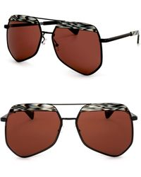 Grey Ant - Hexcelled 55mm The Wire Hexagon Aviator Sunglasses - Lyst