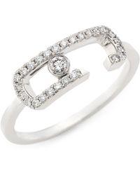 Messika - By Gigi Hadid Move Addiction 18k White Gold & Diamond Ring - Lyst