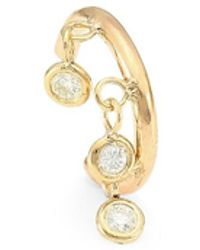 Zoe Chicco 14k Yellow Gold Floating Diamond Ear Cuff
