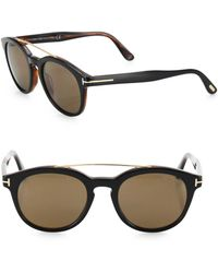a39f24548f2 Tom Ford Newman Sunglasses in Black for Men - Lyst
