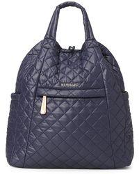 MZ Wallace Metro Convertible Backpack - Blue