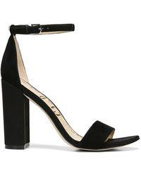 Sam Edelman Yaro Suede Sandals - Black