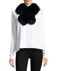 Surell - Two-tone Fox Fur Pull-through Scarf - Lyst