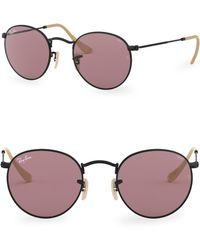 Ray-Ban - 50mm Round Wire Sunglasses - Lyst
