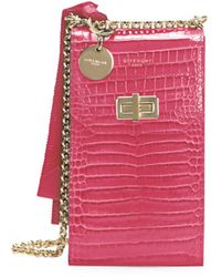 Givenchy Catena Snakeskin-embossed Leather Crossbody Phone Case - Red