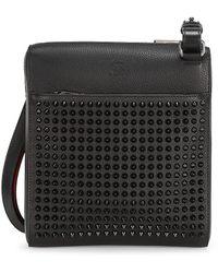 Christian Louboutin Benech Medium Leather Messenger Bag - Black
