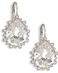 Anzie - Dew Drop White Topaz Drop Earrings - Lyst