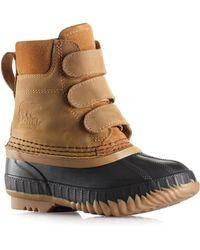Sorel Kid's Cheyanne Grip Tape Boots - Black