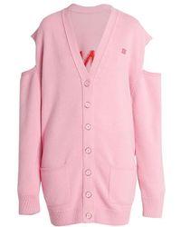 Givenchy Jacquard Logo Oversized Cardigan - Pink