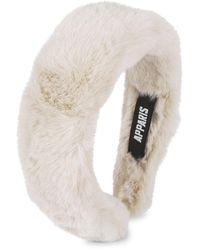 Apparis Teffi Lightweight Faux Fur Headband - Natural
