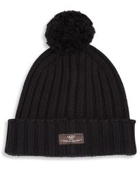UGG - Ribbed-knit Wool Blend Beanie - Lyst