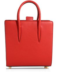 03cc5304904 Small Paloma Leather Tote - Red