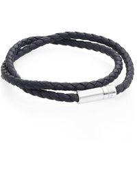 Tateossian - Sterling Silver & Leather Bracelet - Lyst