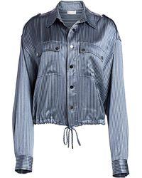 Ramy Brook Lia Lurex Stripe Jacket - Blue